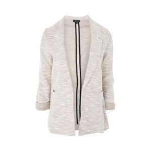 Topshop Gray Jersey Blazer